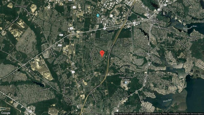This aerial photo shows the approximate location of 1603 Lacebark Road in Toms River. The property at this address changed hands in August 2019, when new owners bought the property for $215,000.