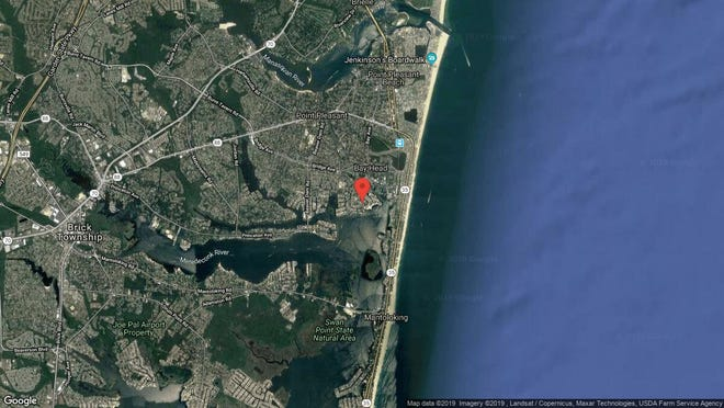 This aerial photo shows the approximate location of 1707 Certainty Drive in Point Pleasant. The property at this address changed hands in August 2019, when new owner bought the property for $835,000.