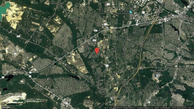 This aerial photo shows the approximate location of 1936 Powder Horn Road in Toms River. The property at this address changed hands in August 2019, when new owner bought the property for $410,000.