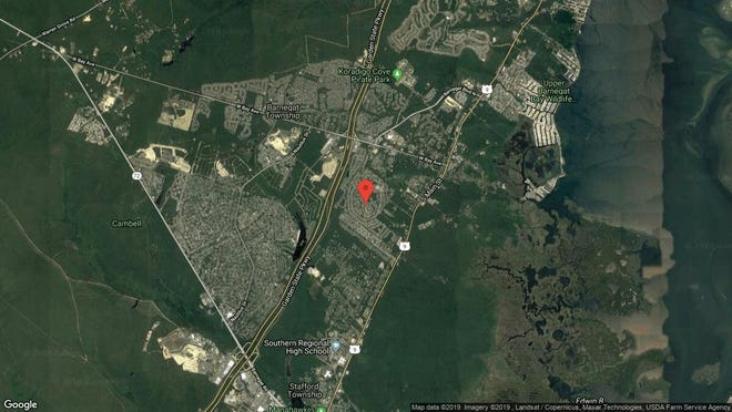This aerial photo shows the approximate location of 29 Potomac Court in Barnegat. The property at this address changed hands in August 2019, when new owner bought the property for $70,000.