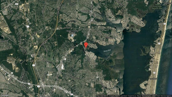 This aerial photo shows the approximate location of 1818 Waters Edge Drive in Toms River. The property at this address changed hands in August 2019, when new owners bought the property for $135,000.