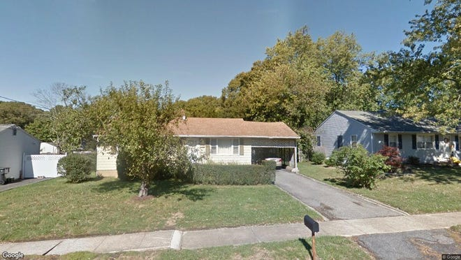 This Google Street View image shows the approximate location of 856 Raleigh Drive in Toms River. The property at this address changed hands in September 2019, when new owner bought the property for $190,000.