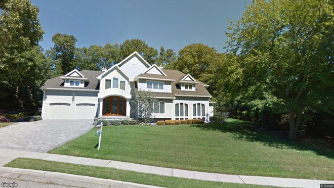 This Google Street View image shows the approximate location of 625 Rolling Hills Drive in Brick. The property at this address changed hands in September 2019, when new owners bought the property for $629,000.