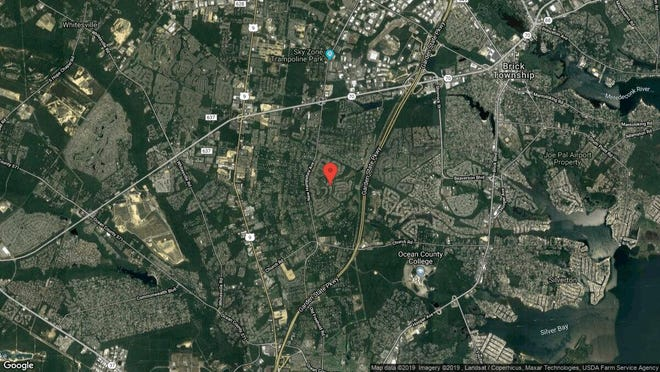 This aerial photo shows the approximate location of 1964 Kwansan Court in Toms River. The property at this address changed hands in September 2019, when new owners bought the property for $230,000.