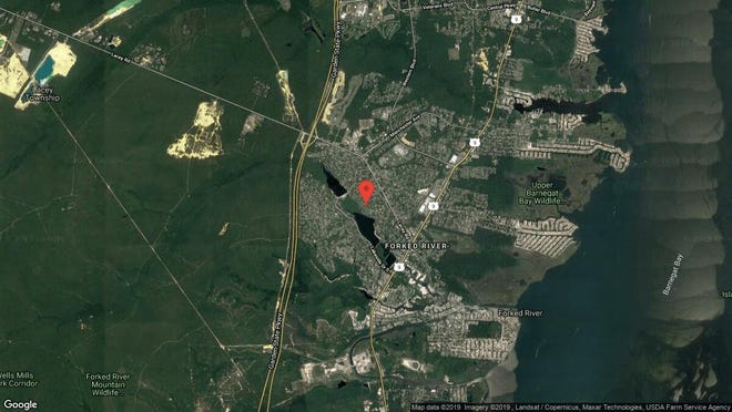This aerial photo shows the approximate location of 466 Lake Barnegat Drive in Lacey. The property at this address changed hands in September 2019, when new owners bought the property for $242,000.