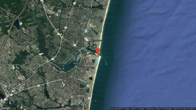 This aerial photo shows the approximate location of 49 Harborhead Drive in Point Pleasant Beach. The property at this address changed hands in August 2019, when new owner bought the property for $638,500.