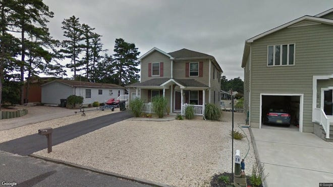 This Google Street View image shows the approximate location of 24 Edgewater Drive in Tuckerton. The property at this address changed hands in September 2019, when new owner bought the property for $280,000.
