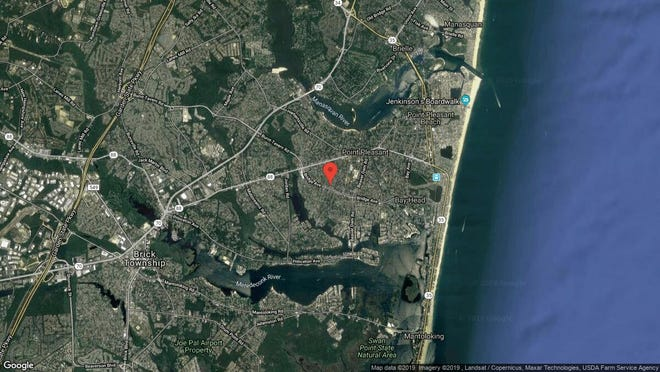 This aerial photo shows the approximate location of 1221 Sunrise Ave. in Point Pleasant. The property at this address changed hands in October 2019, when new owners bought the property for $370,000.
