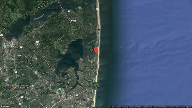 This aerial photo shows the approximate location of 100 Seaview Ave. 4-8A in Monmouth Beach. The property at this address changed hands in October 2019, when new owner bought the property for $490,000.