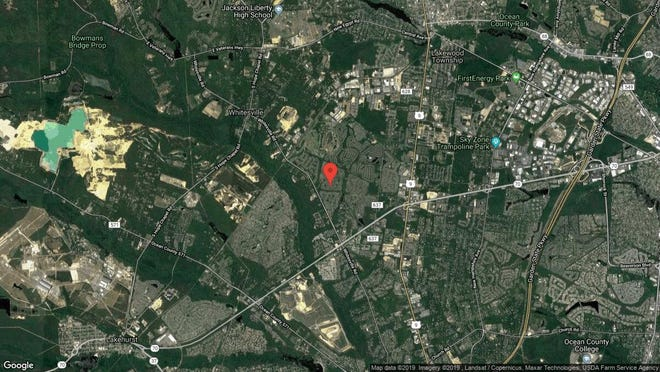 This aerial photo shows the approximate location of 2922 Rock Hill Lane in Toms River. The property at this address changed hands in September 2019, when new owners bought the property for $220,000.