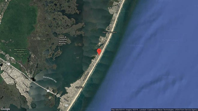 This aerial photo shows the approximate location of 9B E. Bergen Ave. in Harvey Cedars. The property at this address changed hands in October 2019, when new owner bought the property for $970,000.