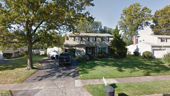 This Google Street View image shows the approximate location of 3105 Sheffield Drive in Cinnaminson. The property at this address changed hands in September 2019, when new owner bought the property for $279,000.