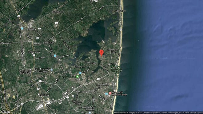 This aerial photo shows the approximate location of 580 Patten Ave. Unit 32 in Long Branch. The property at this address changed hands in October 2019, when new owners bought the property for $425,000.