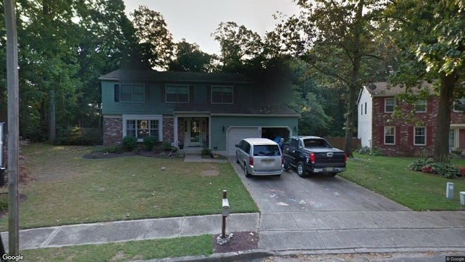 This Google Street View image shows the approximate location of 14 Dewberry Court in Mount Laurel. The property at this address changed hands in October 2019, when new owners bought the property for $415,000.