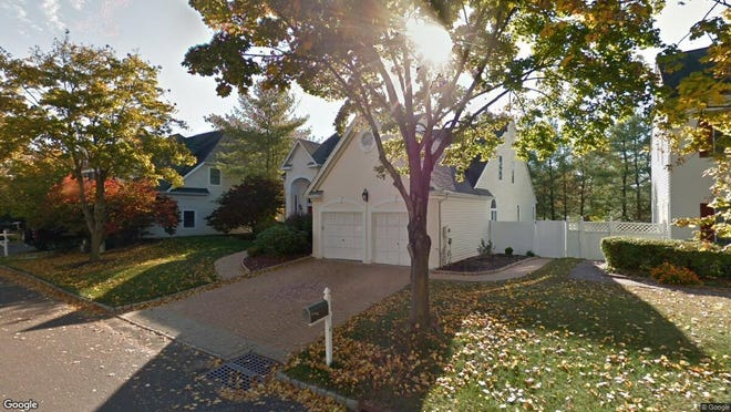 This Google Street View image shows the approximate location of 4 Puddingstone Way in Warren. The property at this address changed hands in October 2019, when new owners bought the property for $704,962.