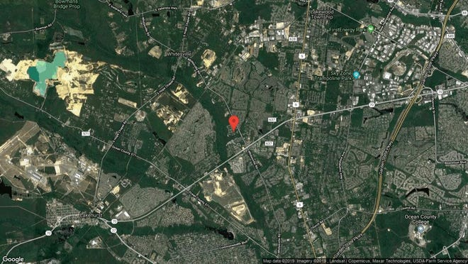 This aerial photo shows the approximate location of 2003 Grassy Hollow Drive in Toms River. The property at this address changed hands in September 2019, when new owner bought the property for $209,900.