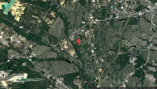 This aerial photo shows the approximate location of 1965 Ridge Hill Drive in Toms River. The property at this address changed hands in September 2019, when new owner bought the property for $520,000.