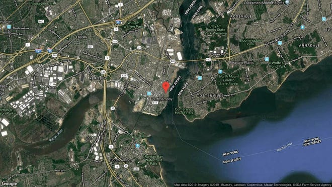 This aerial photo shows the approximate location of 40 Fayette St. Unit 48 in Perth Amboy. The property at this address changed hands in October 2019, when new owner bought the property for $145,000.