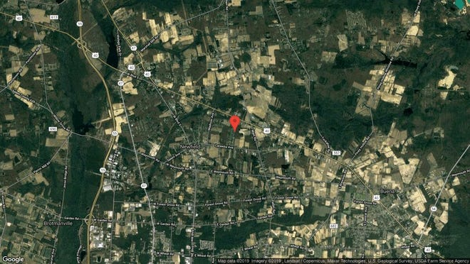 This aerial photo shows the approximate location of 113 Hunter Drive in Newfield. The property at this address changed hands in October 2019, when new owners bought the property for $195,000.