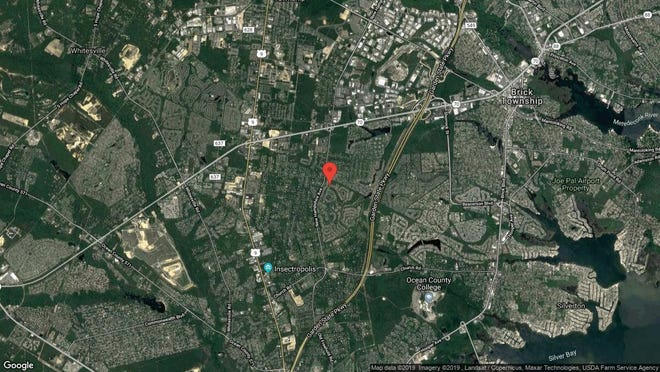 This aerial photo shows the approximate location of 2298 Agincourt Road in Toms River. The property at this address changed hands in November 2019, when new owners bought the property for $247,000.