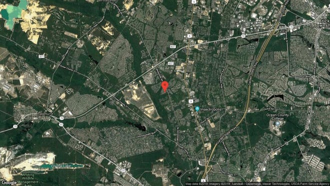 This aerial photo shows the approximate location of 222 Benthook Road in Toms River. The property at this address changed hands in November 2019, when new owners bought the property for $550,000.