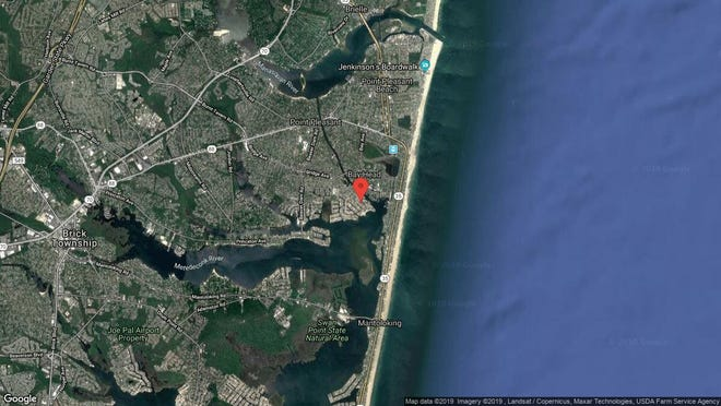 This aerial photo shows the approximate location of 1743 Bay Blvd. in Point Pleasant. The property at this address changed hands in November 2019, when new owners bought the property for $780,000.