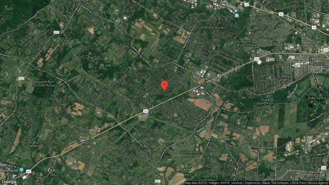 This aerial photo shows the approximate location of 1968 Holland Brook Road W. in Branchburg. The property at this address changed hands in October 2019, when new owners bought the property for $485,000.