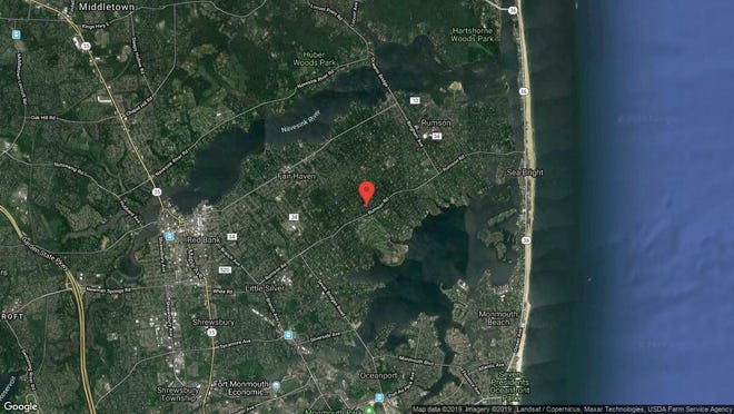 This aerial photo shows the approximate location of 17 Kemp Ave. in Rumson. The property at this address changed hands in November 2019, when new owners bought the property for $1,350,000.