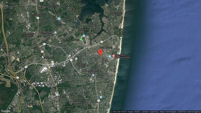 This aerial photo shows the approximate location of 83 Morrell St. in Long Branch. The property at this address changed hands in November 2019, when new owner bought the property for $320,000.