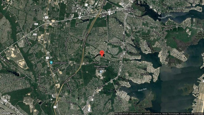 This aerial photo shows the approximate location of 15 Mt Nebo Lane in Toms River. The property at this address changed hands in October 2019, when new owners bought the property for $215,000.