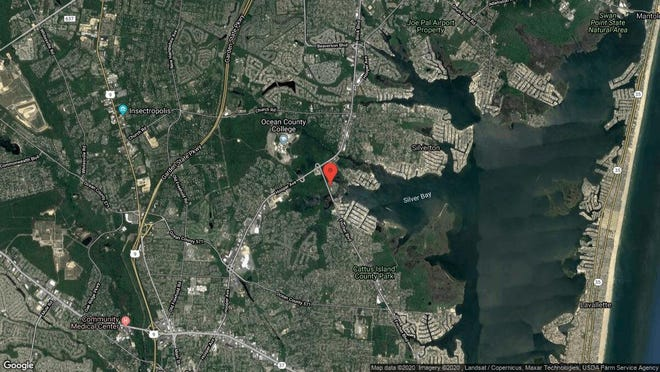 This aerial photo shows the approximate location of 1116 Waters Edge Drive in Toms River. The property at this address changed hands in November 2019, when new owner bought the property for $180,000.