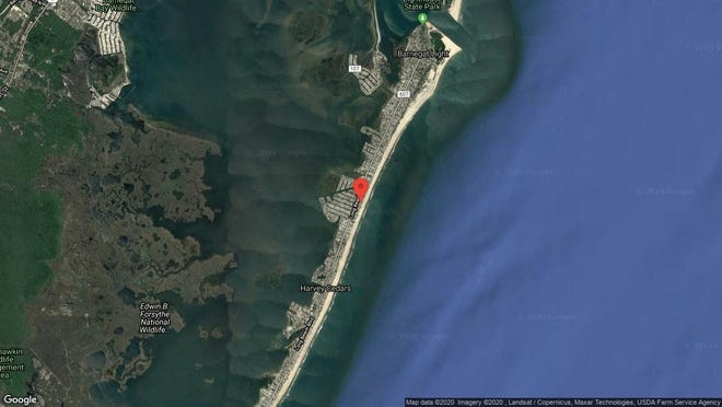 This aerial photo shows the approximate location of 83D Long Beach Blvd. in Long Beach Township. The property at this address changed hands in November 2019, when new owner bought the property for $2,445,000.