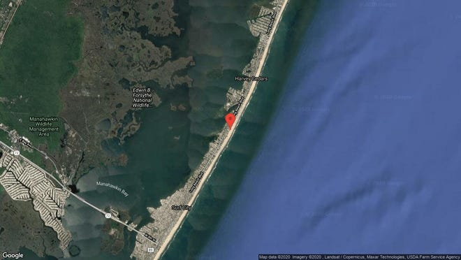 This aerial photo shows the approximate location of 5419E Long Beach Blvd. in Harvey Cedars. The property at this address changed hands in December 2019, when new owners bought the property for $2,300,000.