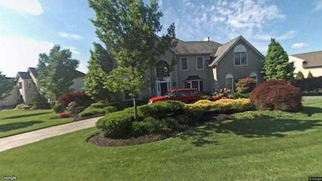 This Google Street View image shows the approximate location of 4 Baltusrol Terrace in Moorestown. The property at this address changed hands in November 2019, when new owners bought the property for $765,000.