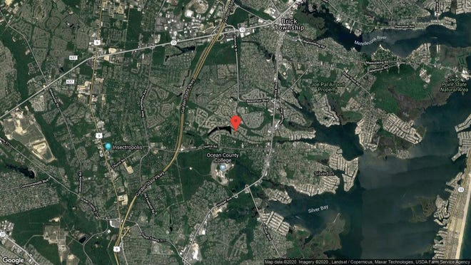 This aerial photo shows the approximate location of 70 Niagara Drive in Toms River. The property at this address changed hands in November 2019, when new owner bought the property for $152,000.