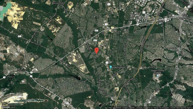This aerial photo shows the approximate location of 1952 Powder Horn Road in Toms River. The property at this address changed hands in December 2019, when new owners bought the property for $429,000.