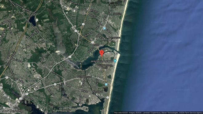 This aerial photo shows the approximate location of 205 River Ave. in Point Pleasant Beach. The property at this address changed hands in December 2019, when new owner bought the property for $405,100.