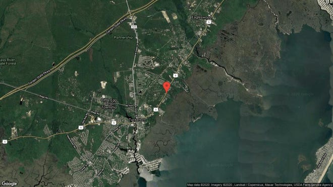 This aerial photo shows the approximate location of 814 Egret Court in Tuckerton. The property at this address changed hands in December 2019, when new owners bought the property for $128,000.