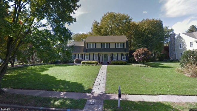 This Google Street View image shows the approximate location of 539 Eaglebrook Drive in Moorestown. The property at this address changed hands in December 2019, when new owners bought the property for $685,000.