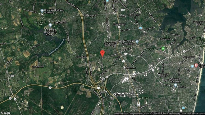 This aerial photo shows the approximate location of 48 Oak Lane in Eatontown. The property at this address changed hands in December 2019, when new owner bought the property for $310,000.