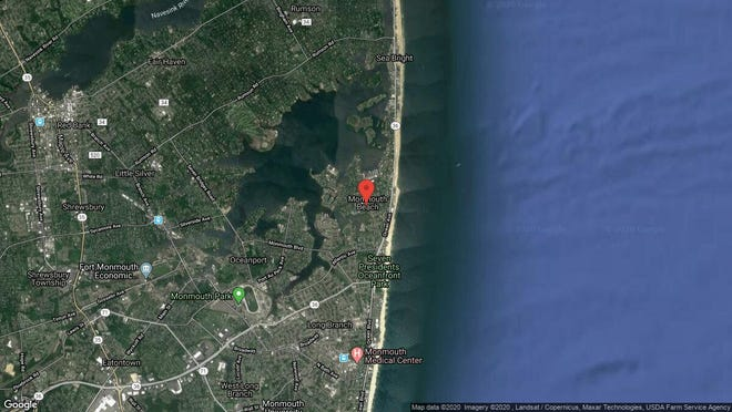 This aerial photo shows the approximate location of 5 Griffin St. in Monmouth Beach. The property at this address changed hands in December 2019, when new owners bought the property for $555,000.