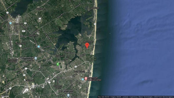 This aerial photo shows the approximate location of 50 Valentine St. Unit 20B in Monmouth Beach. The property at this address changed hands in December 2019, when new owner bought the property for $255,000.