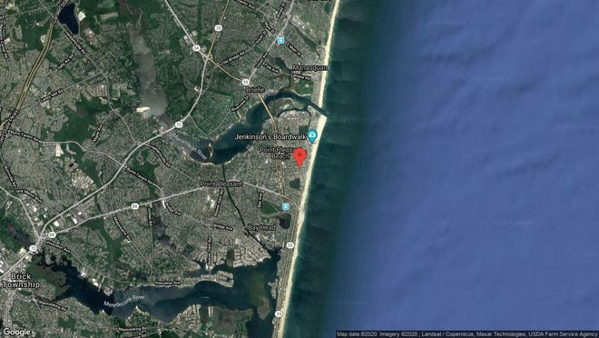 This aerial photo shows the approximate location of 119 New York Ave. in Point Pleasant Beach. The property at this address changed hands in November 2019, when new owner bought the property for $580,000.
