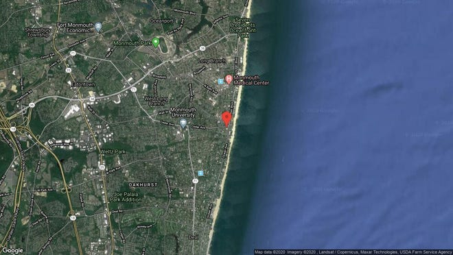 This aerial photo shows the approximate location of 700 Ocean Ave. Unit 8 in Long Branch. The property at this address changed hands in January 2020, when new owners bought the property for $545,000.