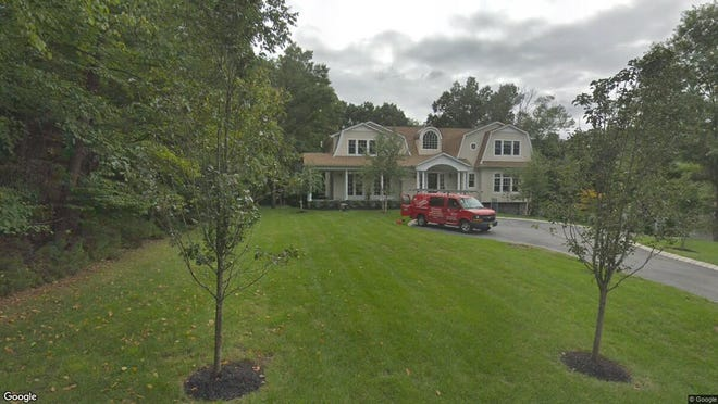 This Google Street View image shows the approximate location of 76 Dimmig Road in Upper Saddle River. The property at this address changed hands in August 2019, when new owners bought the property for $1,825,000.