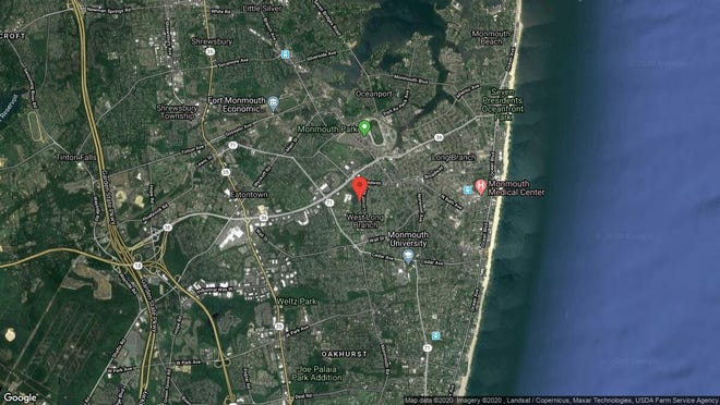 This aerial photo shows the approximate location of 28 Throckmorton Ave. in West Long Branch. The property at this address changed hands in January 2020, when new owner bought the property for $600,000.