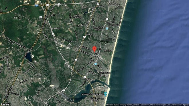 This aerial photo shows the approximate location of 11 Spruce Ave. in Manasquan. The property at this address changed hands in January 2020, when new owners bought the property for $685,000.