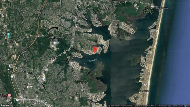 This aerial photo shows the approximate location of 55 Bay Breeze Drive in Toms River. The property at this address changed hands in January 2020, when new owner bought the property for $1,575,000.