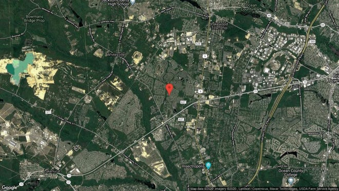 This aerial photo shows the approximate location of 2604 Lancaster Lane in Toms River. The property at this address changed hands in December 2019, when new owner bought the property for $288,000.