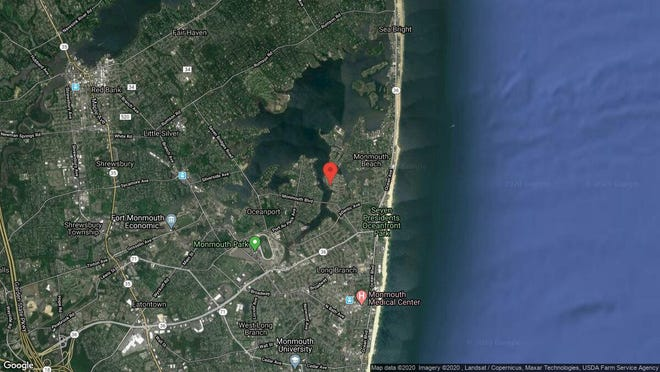 This aerial photo shows the approximate location of 62 Rivergate Way in Long Branch. The property at this address changed hands in October 2019, when new owner bought the property for $707,500.